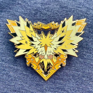 Pokemon legendary bird Zapdos hard enamel pin