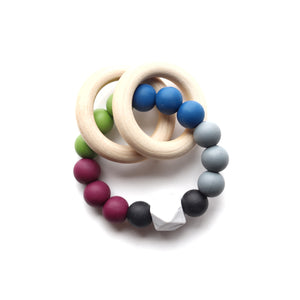 Jewel Tone Colors Teether Rattle