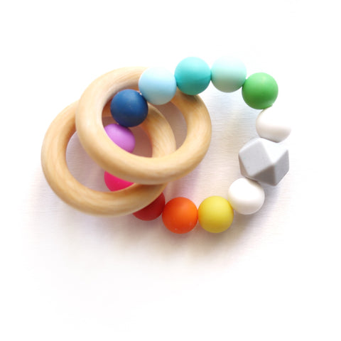 Rainbow Teether Rattle