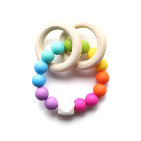 Rainbow Brite Teether Rattle