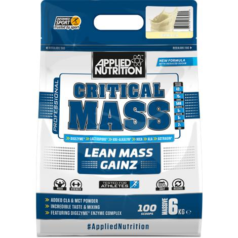 Critical Mass - Applied Nutrition | 6000 gram - 25 shakes-Weightgainer-Applied Nutrition-[Kopen]-[Body&Fit]