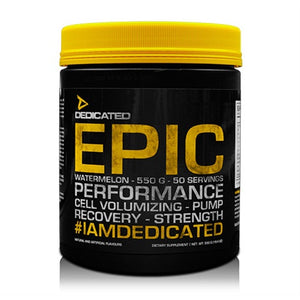 Epic V2 PreWorkout - Dedicated Nutrition | 550 gram - 50 doseringen-Preworkout-Dedicated Nutrition-[Kopen]-[Body&Fit]
