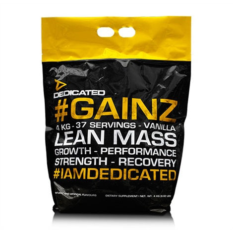 Gainz - Dedicated Nutrition | 4000 gram - 37 shakes-Weightgainer-Dedicated Nutrition-[Kopen]-[Body&Fit]