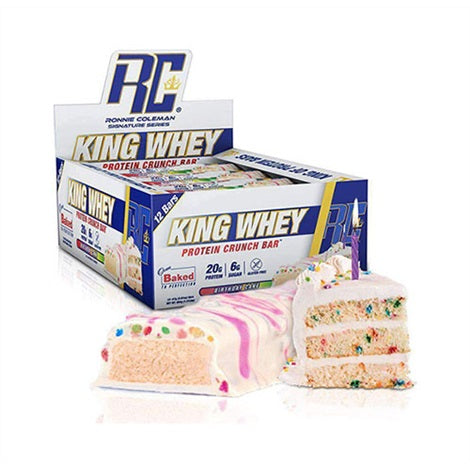 King Whey Protein Bar - Ronnie Coleman | 684 gram - 12 repen-Eiwitreep-Ronnie Coleman-[Kopen]-[Body&Fit]