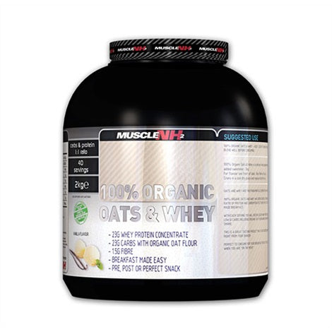 Organic Oats & Whey - Muscle NH2 | 2000 gram - 40 shakes-Weightgainer-Muscle NH2-[Kopen]-[Body&Fit]
