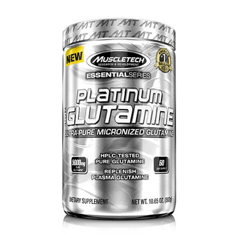 Platinum Micronised Glutamine - Muscletech | 302 gram-Amino-Muscletech-[Kopen]-[Body&Fit]