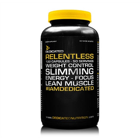 Relentless - Dedicated Nutrition | 100 capsules-Burner-Dedicated Nutrition-[Kopen]-[Body&Fit]
