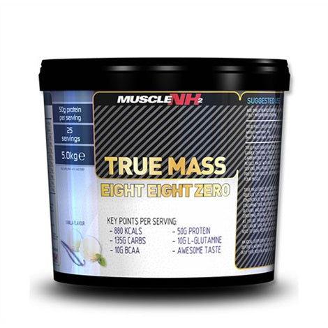 True Mass Eight Zero - Muscle NH2 | 5000 gram - 25 shakes-Weightgainer-Muscle NH2-[Kopen]-[Body&Fit]
