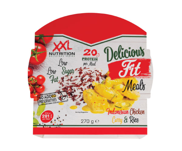Delicious Fit Meals - XXL Nutrition | indonesian chicken curry & rice-Voeding-XXL Nutrition-[Kopen]-[Body&Fit]