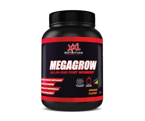Mega Grow - XXL Nutrition | 2000 gram - 40 shakes-Weightgainer-XXL Nutrition-[Kopen]-[Body&Fit]