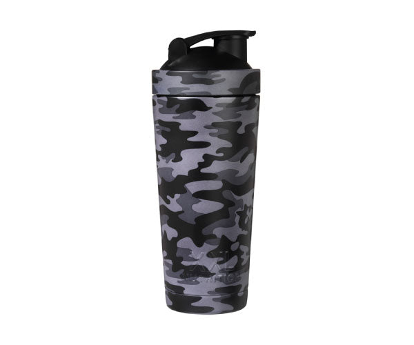 Thermo RVS Shaker - XXL Nutrition | black camo-Accessoires-XXL Nutrition-[Kopen]-[Body&Fit]