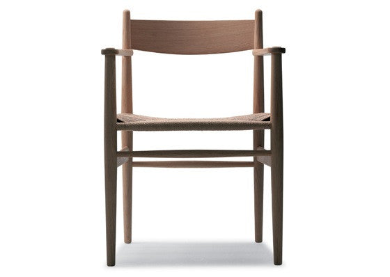 CH37 Chair with Natural Cord Seat by Carl Hansen & Son