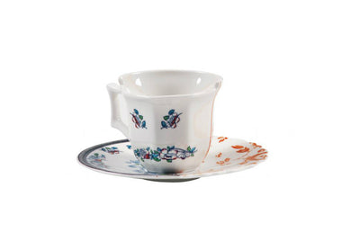 Hybrid Espresso Cup with Saucer by Seletti (Set of 2) - Urbanspace Interiors