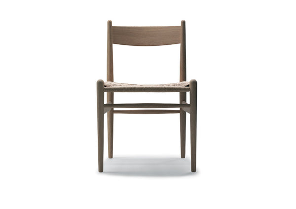 CH36 Chair with Black Cord Seat by Carl Hansen & Son