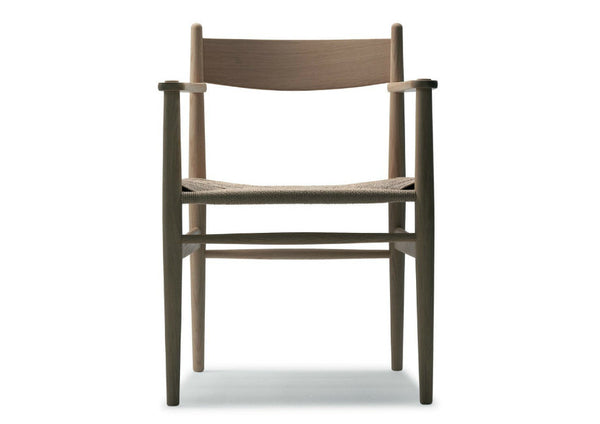 CH37 Chair with Black Cord Seat by Carl Hansen & Son