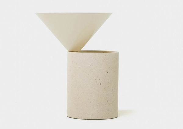Laurel Marble Side Table by Luca Nichetto