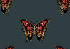 Butterfly Hand-Print Wallpaper by Timorous Beasties