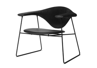 Masculo Sled Base Lounge Chair by Gubi - Urbanspace Interiors