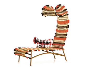 M'Afrique Shadowy Chaise Lounge by Moroso - Urbanspace Interiors