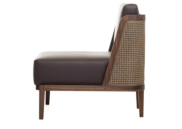 Throne Lounge Chair with Rattan by Autoban