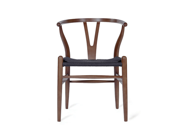 wishbone chair with black cord seat carl hansen son urbanspace