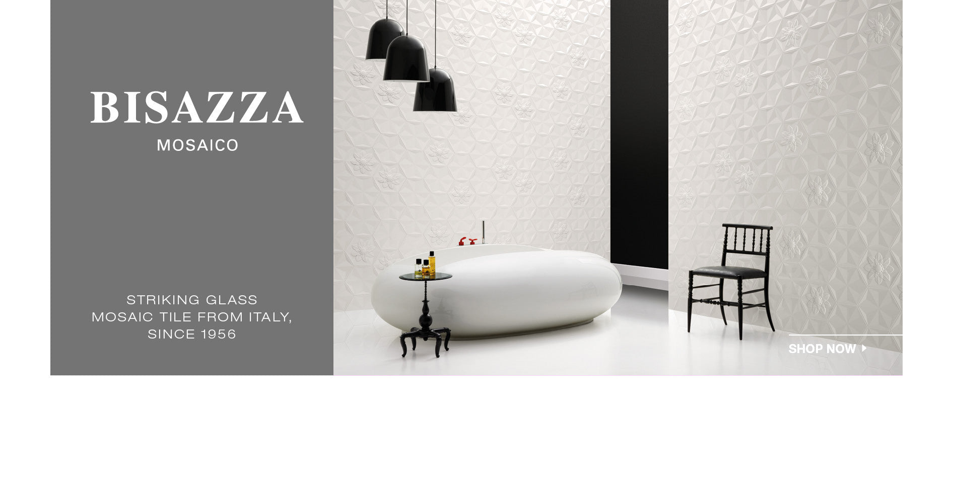 Bisazza specializes in luxury glass mosaic tile