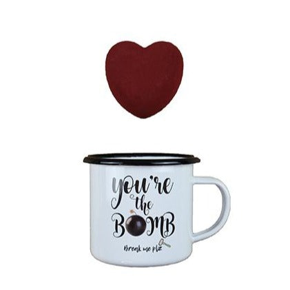 *Mug Gift set :Heart Hot chocolate bomb & Mug