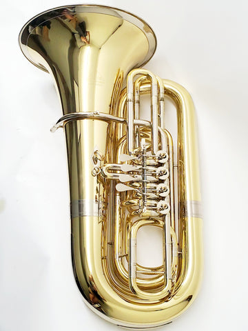 Miraphone 191 4V Rotary BBb Tuba with SKB Hard Case, Used