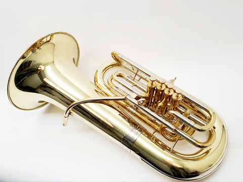 Gronitz PF125 Piston F Tuba in Polished Brass