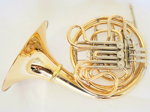 Hans Hoyer Heritage 6802GA-L Gold Brass Double Horn