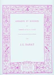 Andante et Scherzo for Trumpet and Piano by J. Barat, pub. Leduc Hal Leonard