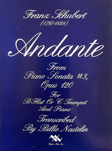 Andante for Trumpet and Piano, Franz Schubert,, pub. Trigram