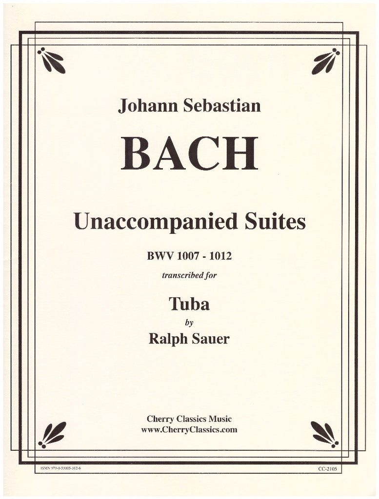 Unaccompanied Suites for Tuba by J.S. Bach, pub. Cherry Classics