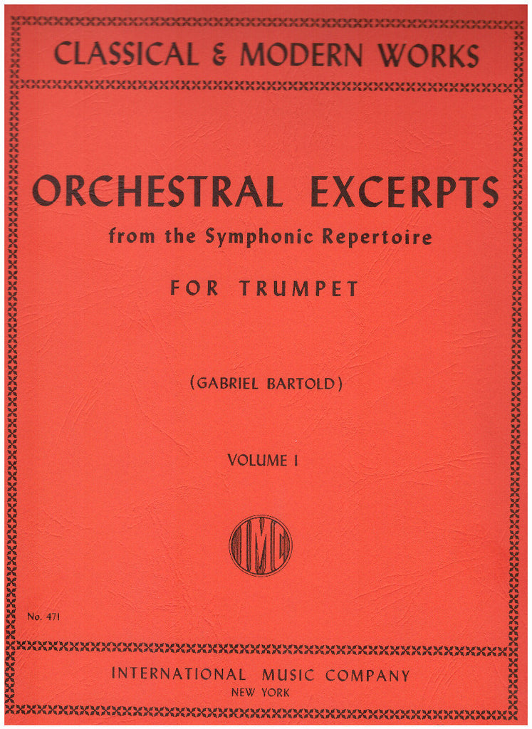 Orchestral Excerpts for Trumpet in Several Volumes, pub. International