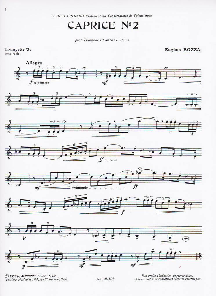 Piano piano and trumpet duet sheet music : The Horn Guys - Caprice No. 2 for Trumpet and Piano by Eugene ...