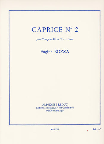 Caprice No. 2 for Trumpet and Piano by Eugene Bozza, pub. Leduc Hal Leonard