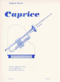 Caprice for Trumpet and Piano by Eugene Bozza, pub. Leduc