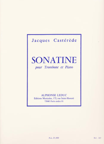 Sonatine for Trombone and Piano by Jacques Casterede, pub. Leduc Hal Leonard