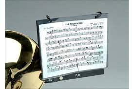 DEG Trombone Marching Lyre and Flip Folder
