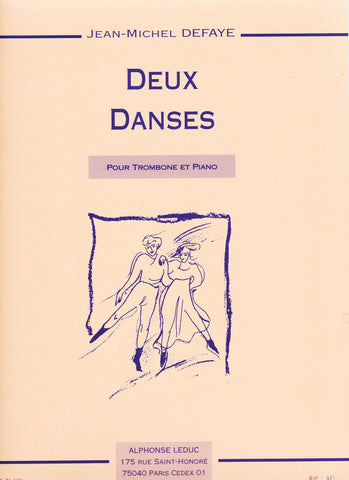 Deux Danses for Trombone and Piano by Jean-Michel Defaye, pub. Leduc Hal Leonard