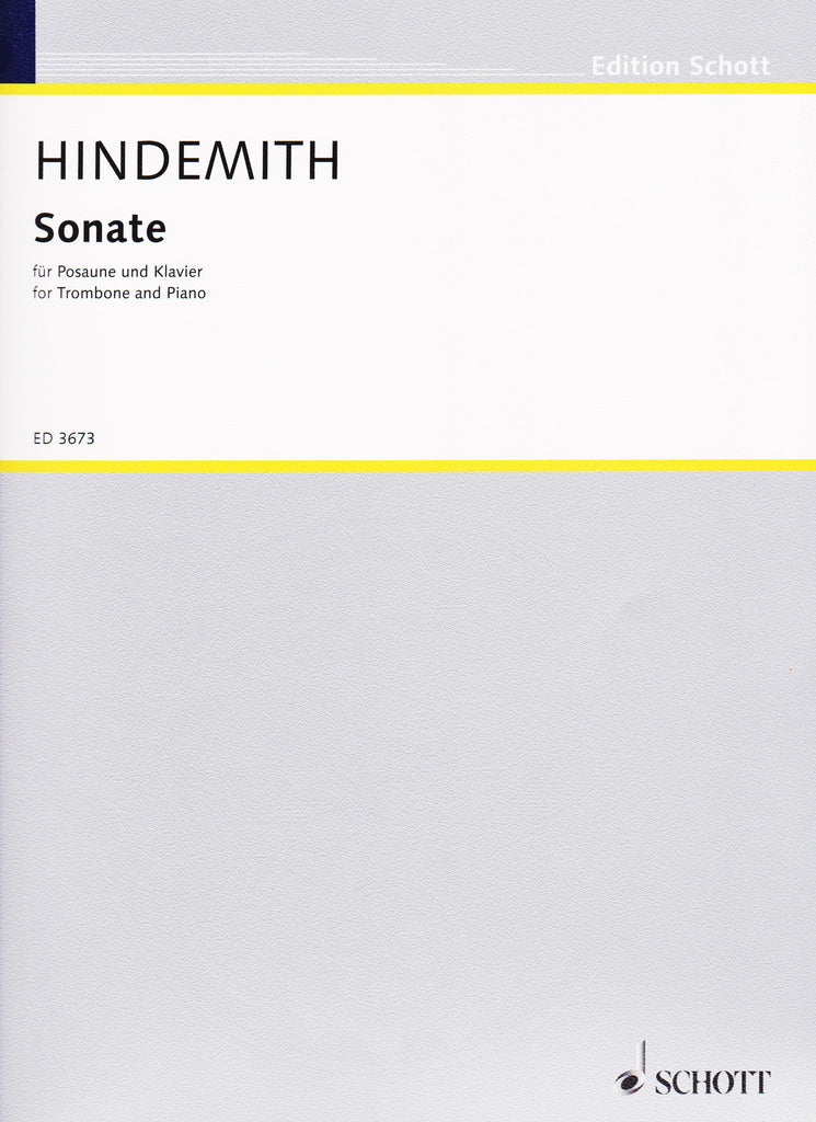 Sonata (1941) for Trombone and Piano by Paul Hindemith, pub. Hal Leonard
