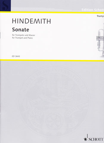 Sonata (1939) for Trumpet and Piano by Paul Hindemith, pub. Hal Leonard