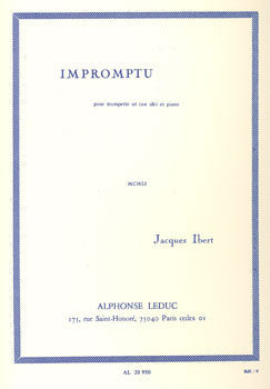 Impromptu for Trumpet and Piano by Jacques Ibert, pub. Leduc Hal Leonard
