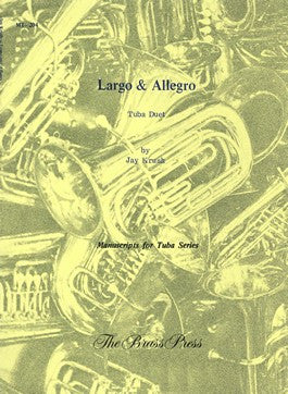 Largo & Allegro Tuba Duet by Jay Krush, pub. Bim