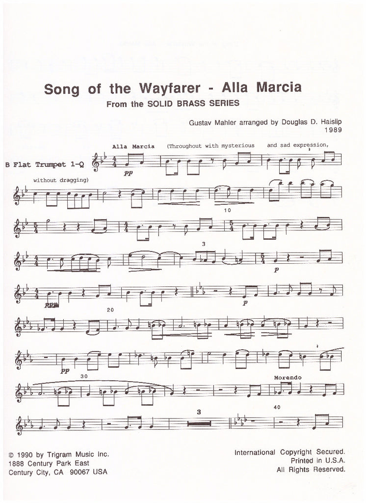 All Music Chords brass choir sheet music : The Horn Guys - Song of the Wayfarer & Alla Marcia for Brass ...