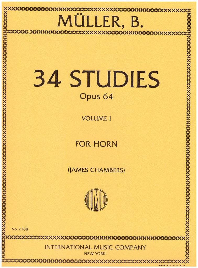 34 Studies for French Horn in Two Volumes by Bernhard Mueller, pub. International
