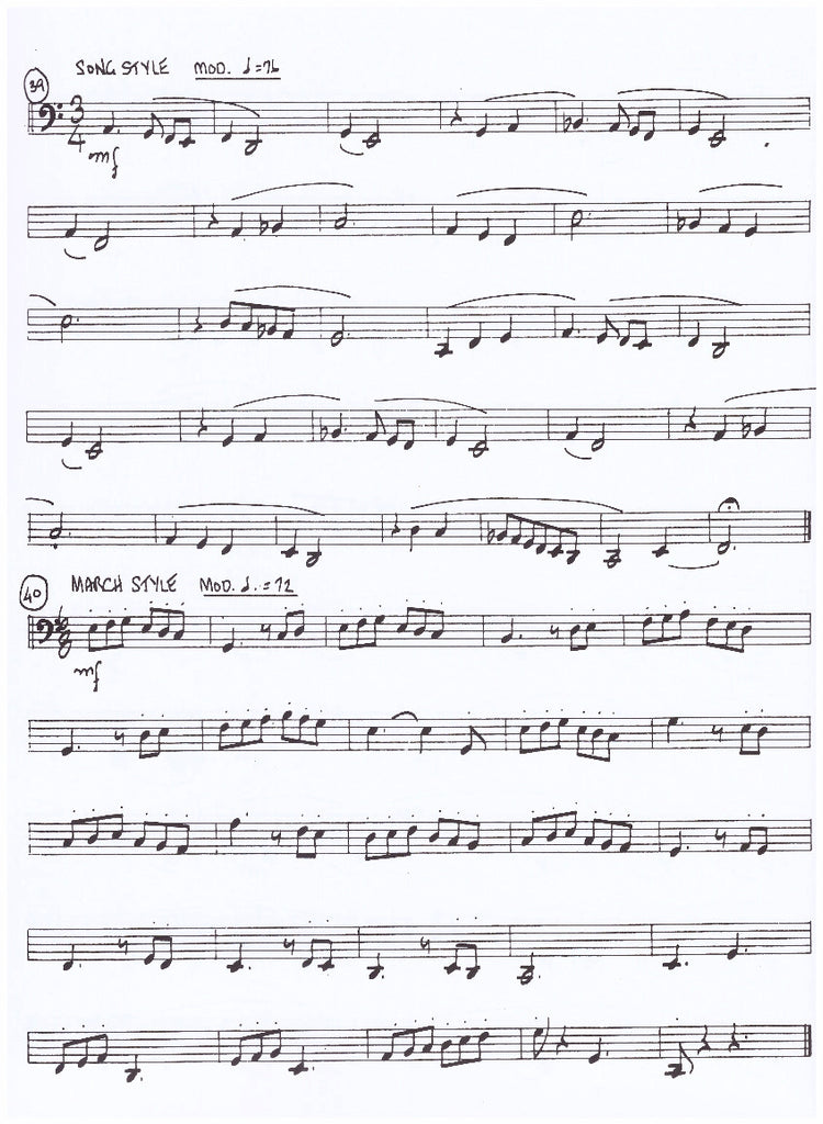The Horn Guys - Elementary Etudes For Bass Trombone by Tommy ...