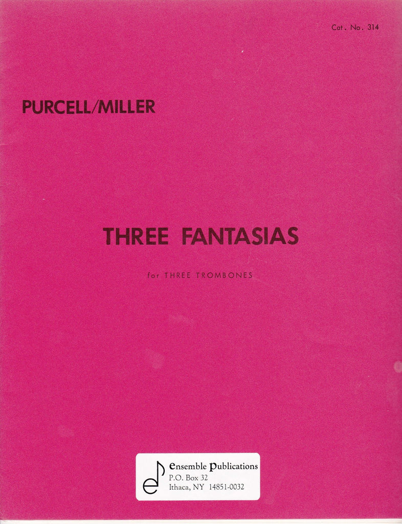 Three Fantasias for Trombone Trio by Henry Purcell, pub. Ensemble