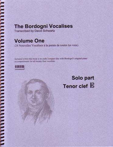 The Bordogni Vocalises Vol. 1 Solo Part in Tenor Clef, pub. Schwartz