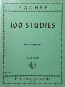 One Hundred Studies for Trumpet by Ernst Sachse, pub. International